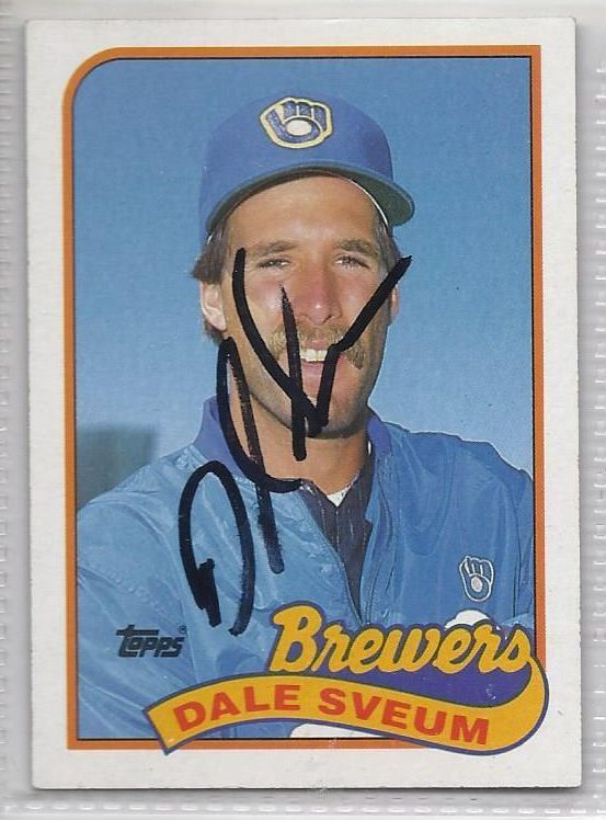 Dale Sveum SIgned Autographed Card 1989 Topps