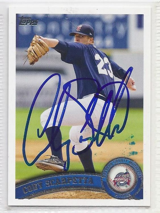 Cody scarpetta Signed Autographed Card 2011 Topps Pro Debut