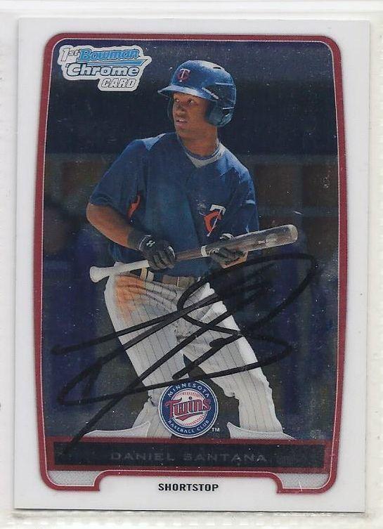 Daniel Santana Signed Autographed Card 2012 Bowman Chrome Prospects