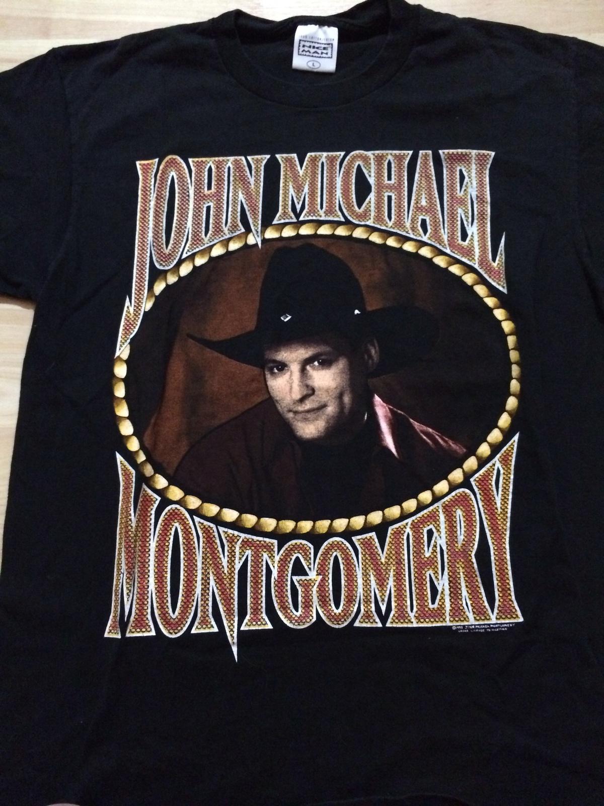 John Michael Montgomery Vintage 1994 Concert Tour T-Shirt Sz Large  Great Piece!