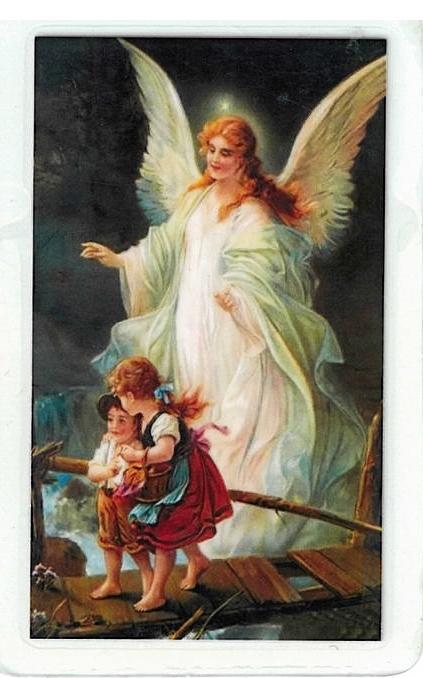 Laminated prayer card   angel la guardia 300.0054 001