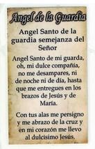 Laminated Prayer Card - Angel la Guardia - L300.0054 image 2