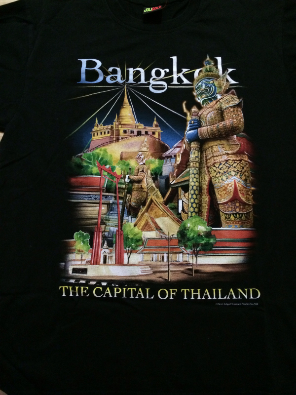 """Bangkok """" The Capital of Thailand """" Cool Colorful T-Shirt Sz Large  Great Piece!"""