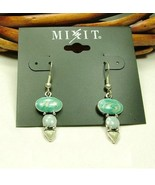 Mixit Blue and Grey Enamel Fill Silver Plated D... - $4.00