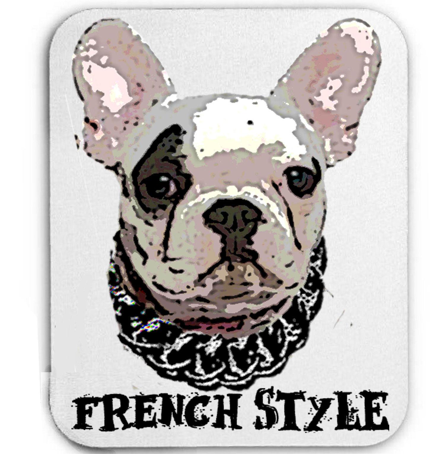 FRENCH BULLDOG FRENCH STYLE  - MOUSE MAT/PAD AMAZING DESIGN