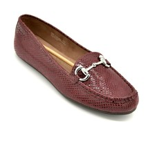 A2 by Aerosoles Drive Back Snake Printed Flats Slip On Size 9.5M Wine New - $21.96