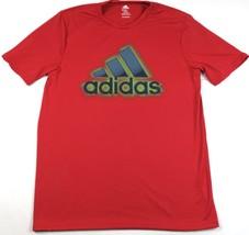 Large Men's Shirt adidas Adilogo Performance Graphic Tee T-shirt Power Red