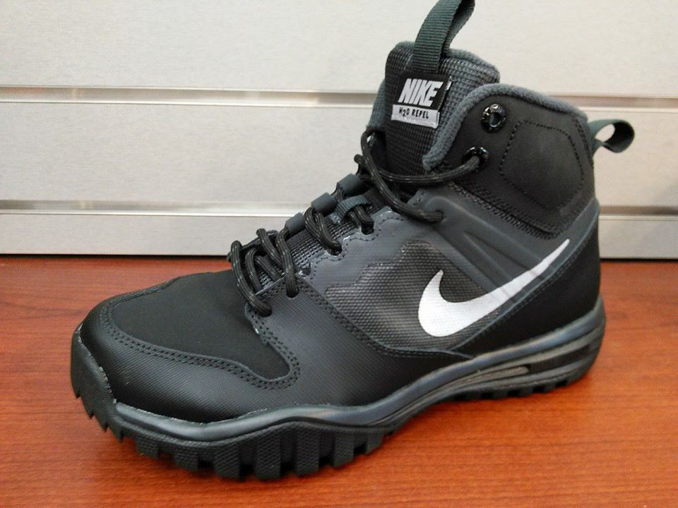 Nike Dual Fusion Hills Mid Boots GS Youth Boys Leather Boots NEW # 7