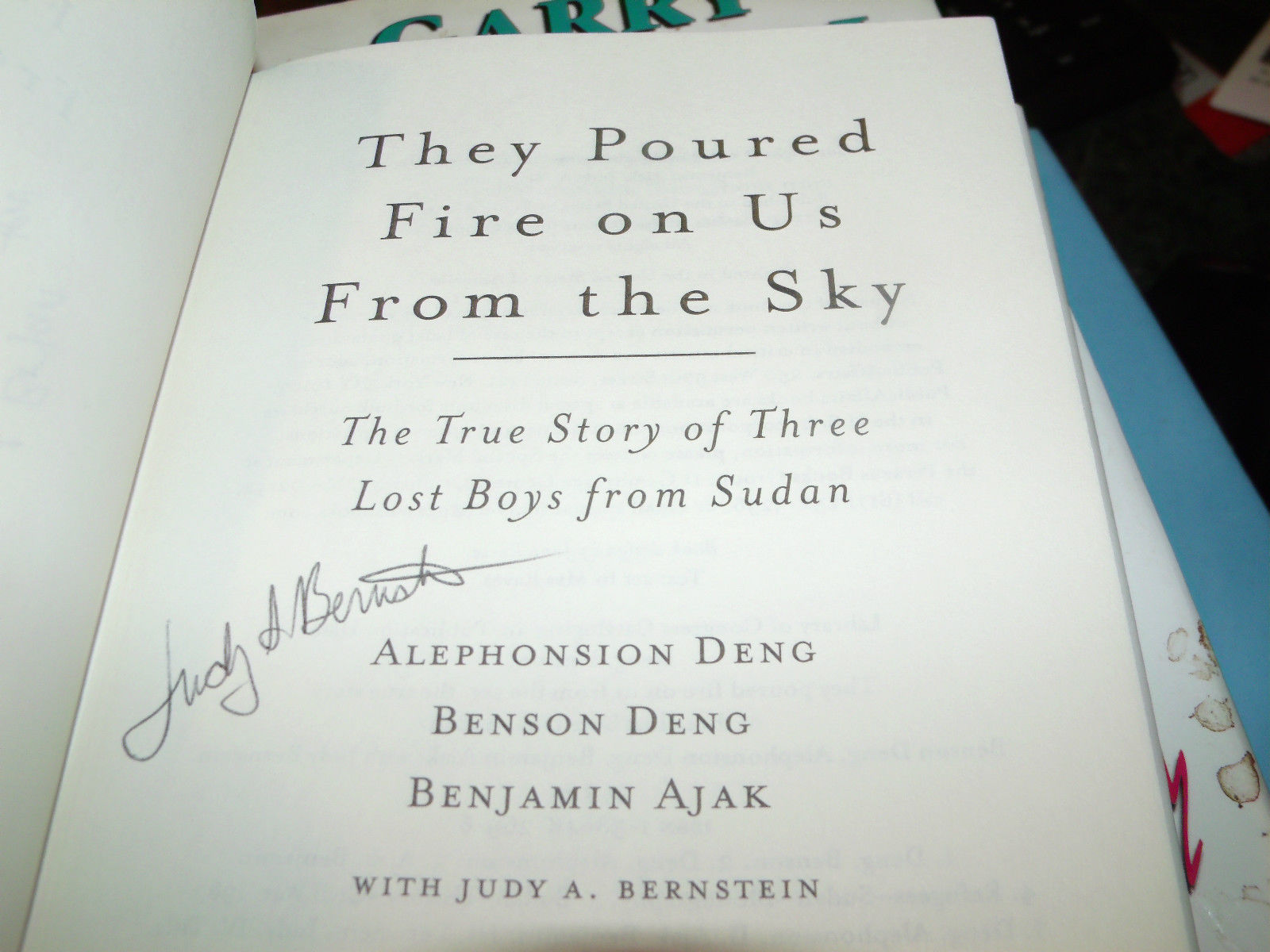 They Poured Fire on Us From the Sky : The True Story SIGNED BY 2 1ST/1ST