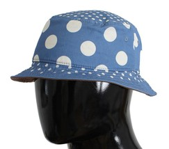 Dolce & Gabbana Blue Polka Cotton Silk Sun Hat 10571 - $86.58