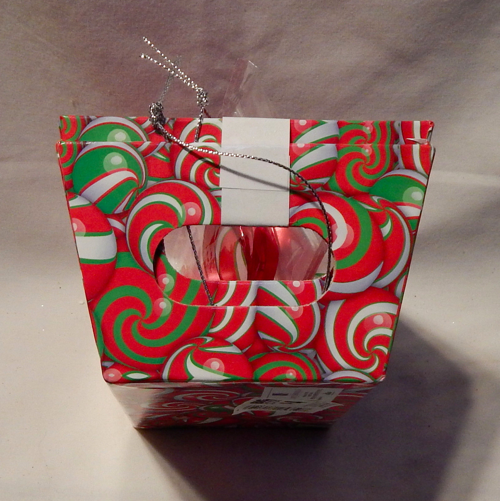 """Christmas 2 Pack Gift Tray Set Sweet Treats Candy Balls 4 1/2"""" x 7"""" For Food 6Y"""
