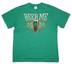 "DELTA ""BEER ME"" SHAMROCK UNISEX MEN MED OR WOMEN'S GREEN COTTON T-SHIRT NEW - $6.97"