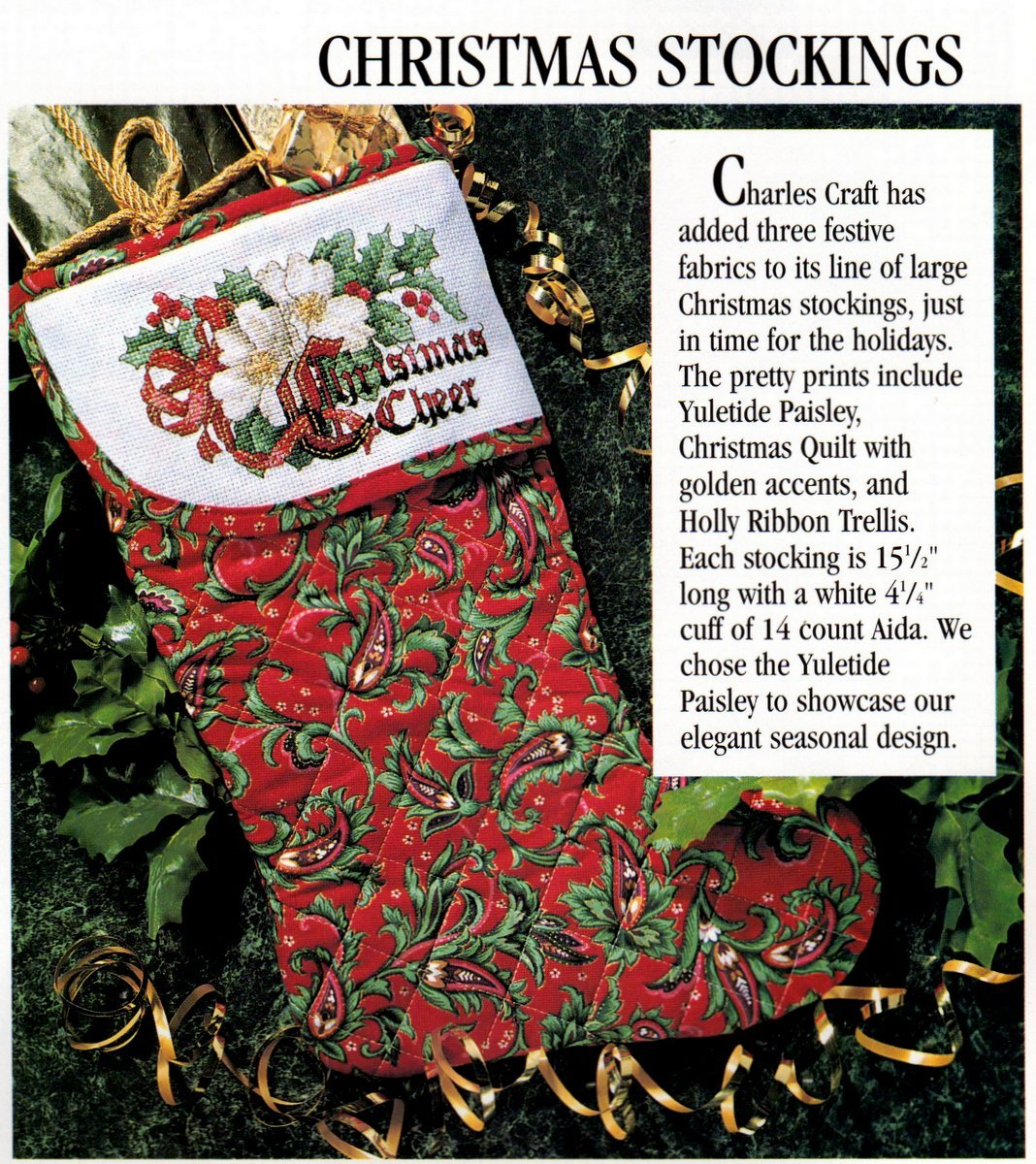 For The Love Of Cross Stitch Jan. 1995 Christmas Ornaments Santas Reindeer .