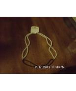 Aldo Faux White Pearl and Cord Necklace - $2.99