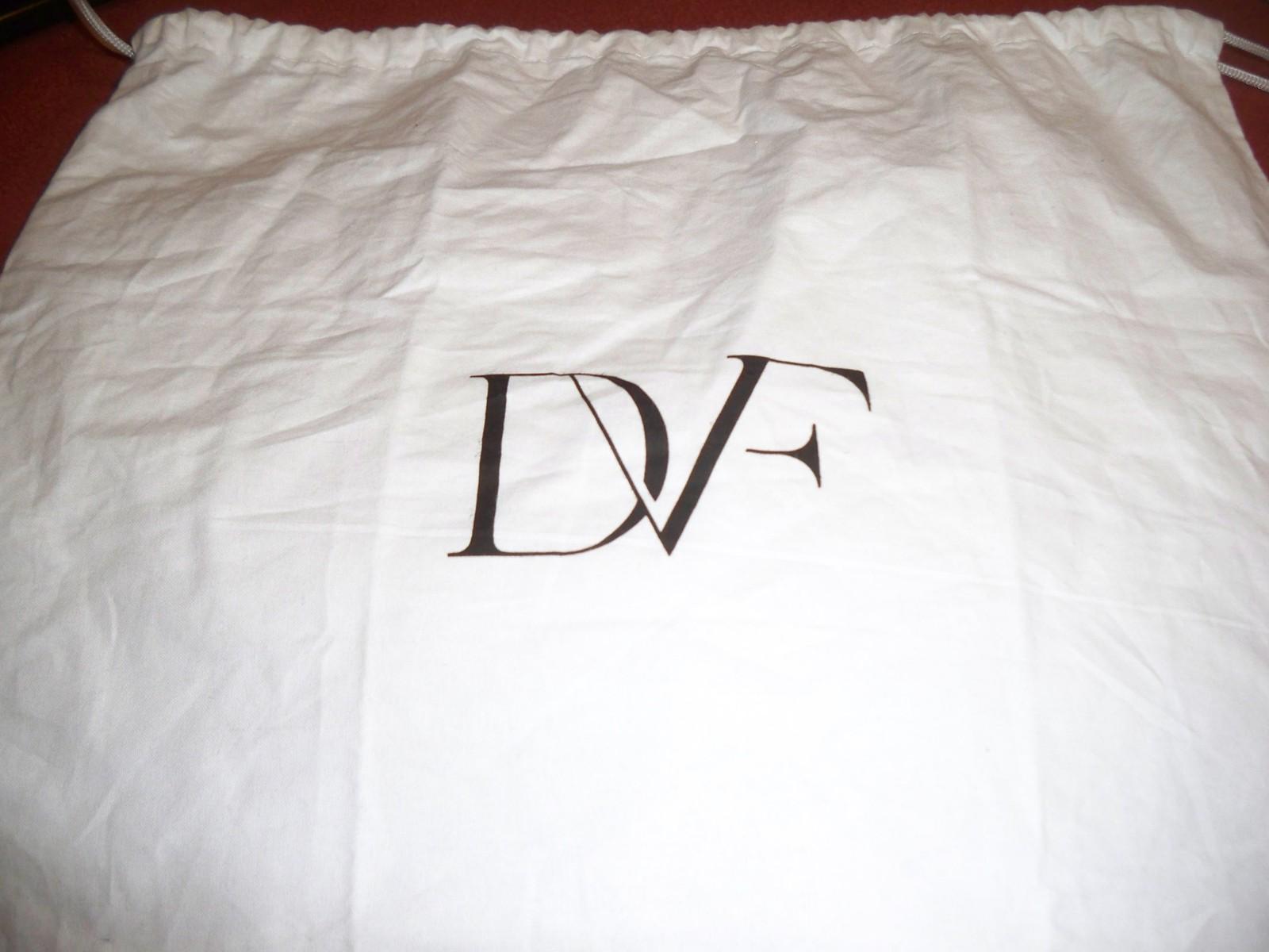 Designer Sleeper/ Dust Bag Diane von Furstenberg White with Black Logo