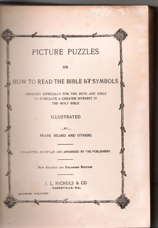 Picture Puzzles or How To Read the Bible by Symbols, Illustrated Book by F Beard