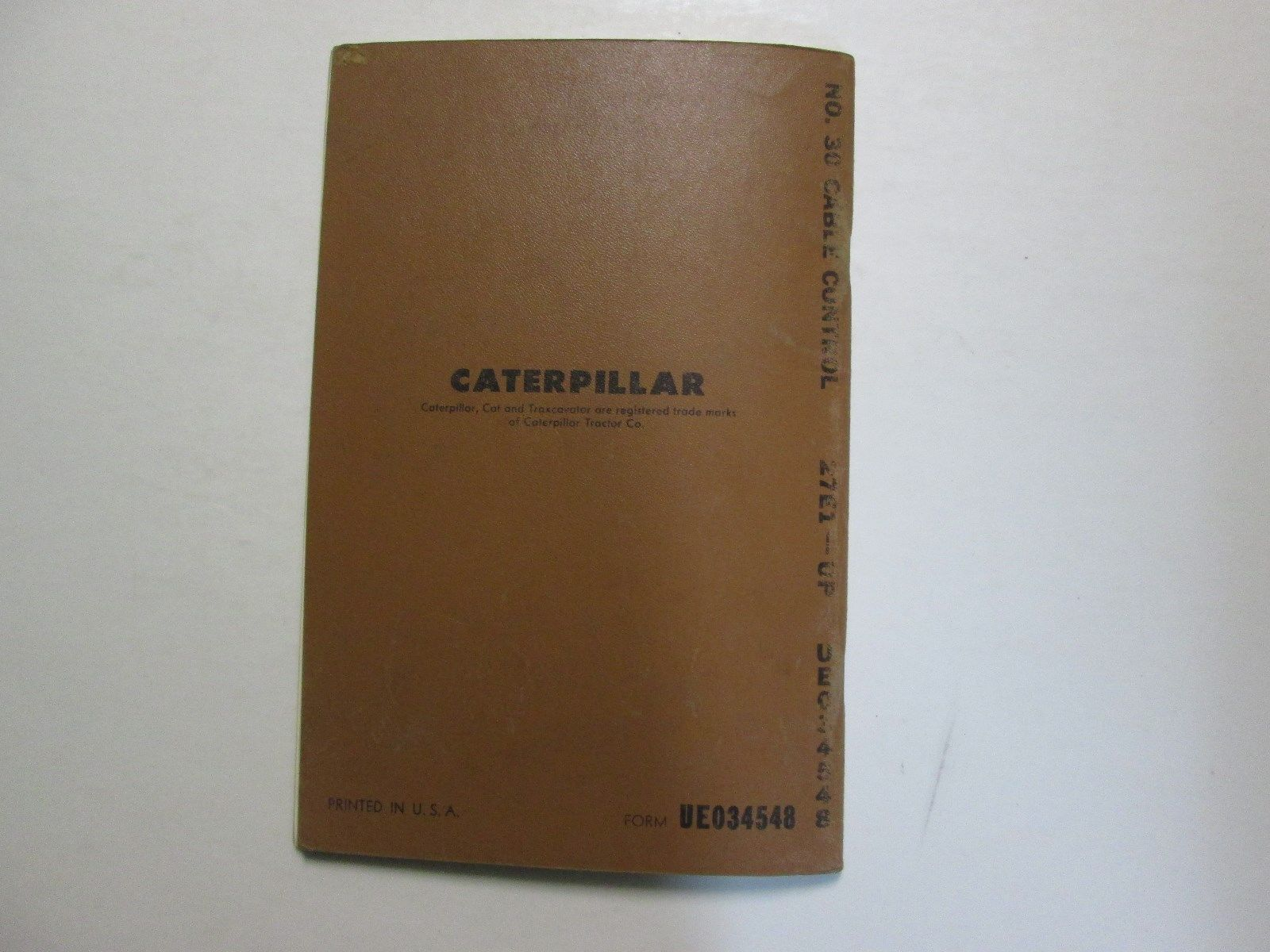 Caterpillar No 30 Cable Control Front Single Drum Parts Book Manual 27E1-UP USED