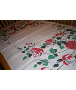 Vintage rose tablecloth Unique - $25.00
