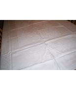 Large white Damask Tablecloth - $9.59