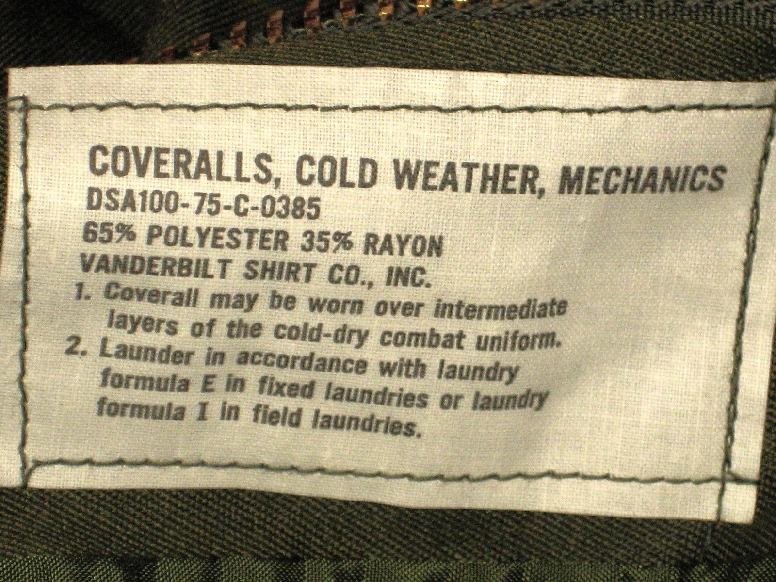 Coveralls,Cold Weather, Mechanics - Medium
