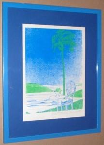 Signed Ronald Eastbourne Renmark Florida Serigraph Art Limited Edition