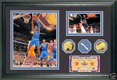 Dwight Howard 2009 All Star Game Used Net and 24KT Gold Coin Wall Art Photo