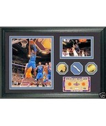 Dwight Howard 2009 All Star Game Used Net and 24KT Gold Coin Wall Art Photo - $143.55