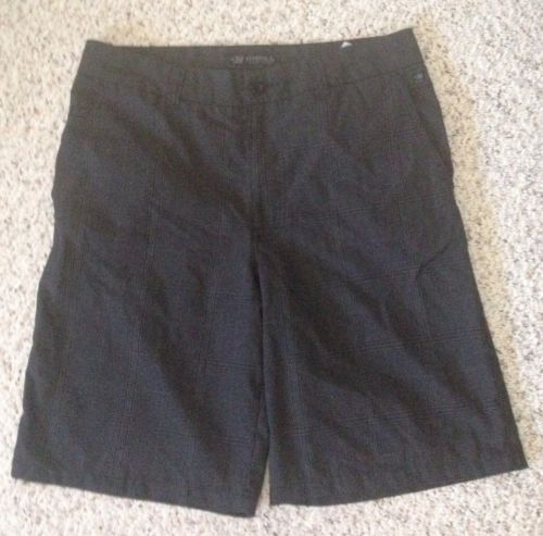 O'NEILL Slim Board Skate Shorts - sz 31 - Black - Plaid