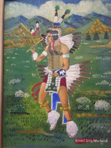 Vintage 1971 Native American Indian Oil Painting signd Benedict Little W... - $513.25