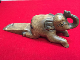 Unique Vintage Wood Carved ELEPHANT Shaped Door... - $116.88