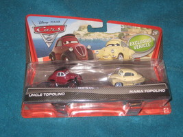 Disney Pixar Cars 2  Uncle Topolino and  Mama Topolino Car Set. - $13.81