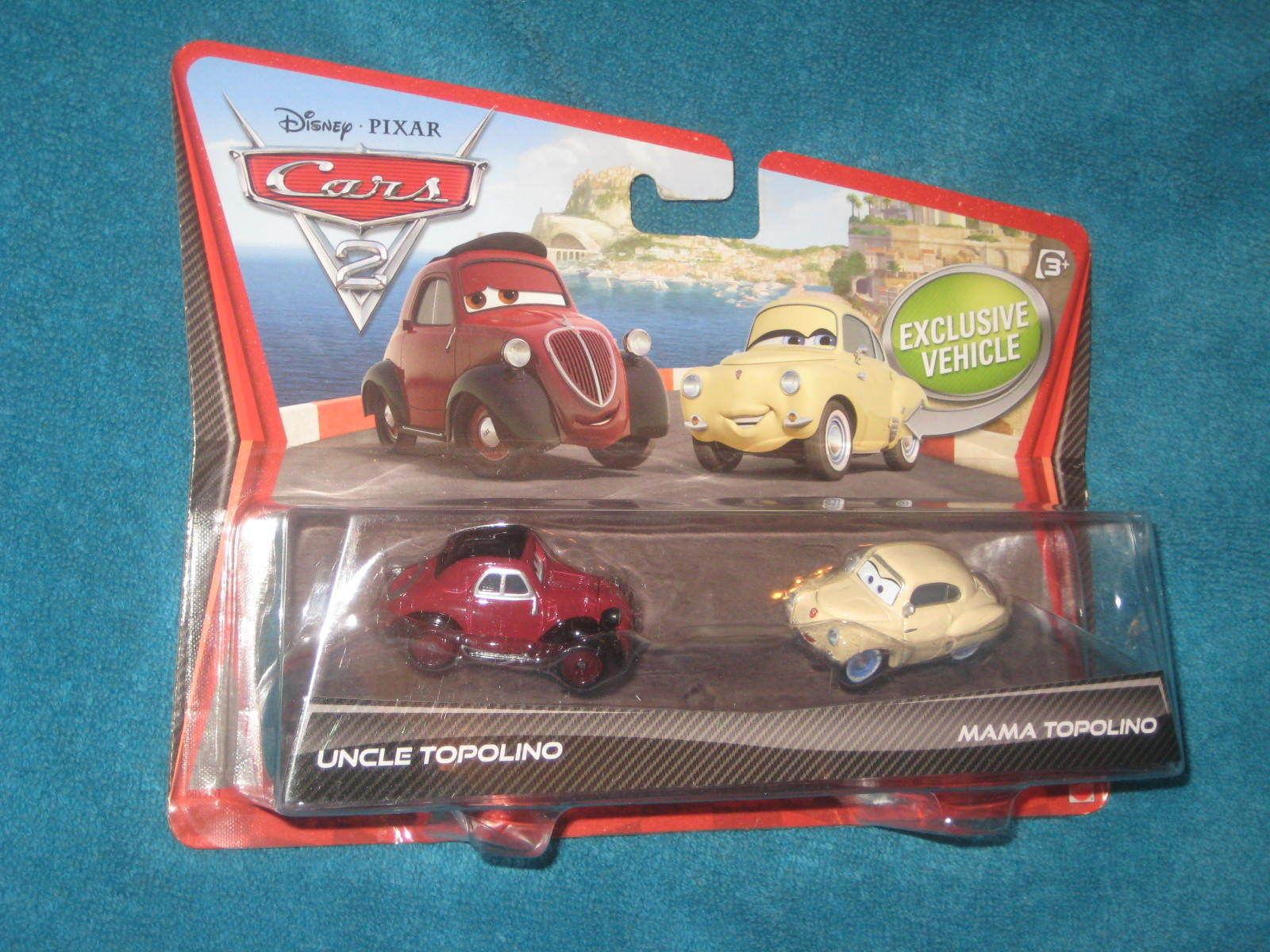 Disney Pixar Cars 2  Uncle Topolino and  Mama Topolino Car Set.