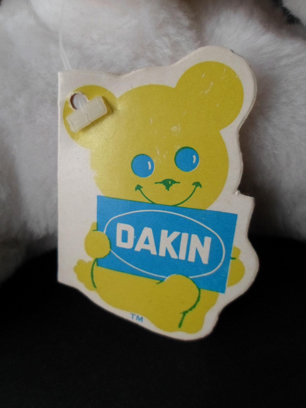 "Vintage 1976 Dakin Nature Babies Plush Finnegan Seal White with TAGS 9"""