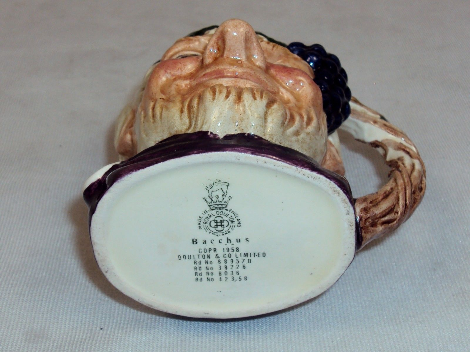 "Toby Character Jug ""Bacchus"" Table Lighter (Small) ~ Royal Doulton D6505"
