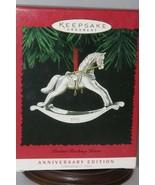 Hallmark Keepsake - Pewter Rocking Horse Anniv. Edition - 1995 - Mint in... - $4.95
