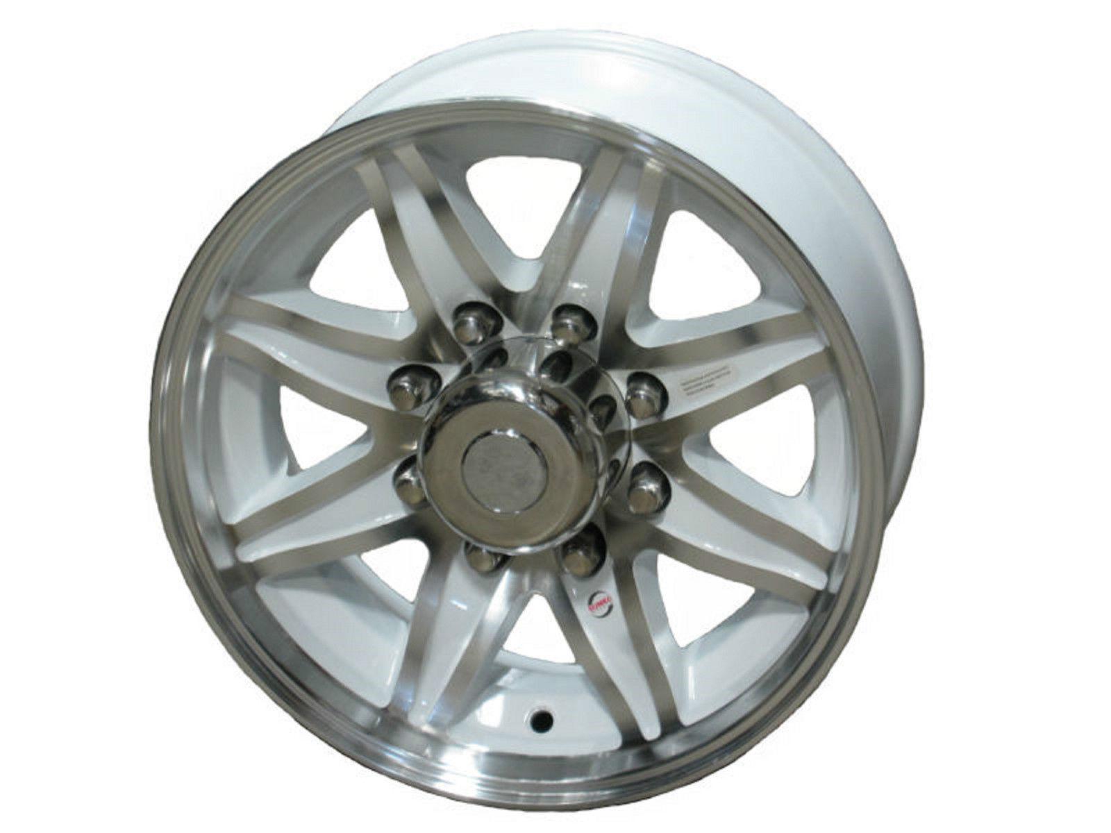 "17.5"" 8 Lug Lynx White Sumec Aluminum Trailer Wheel fifth wheel stacker 9cc"