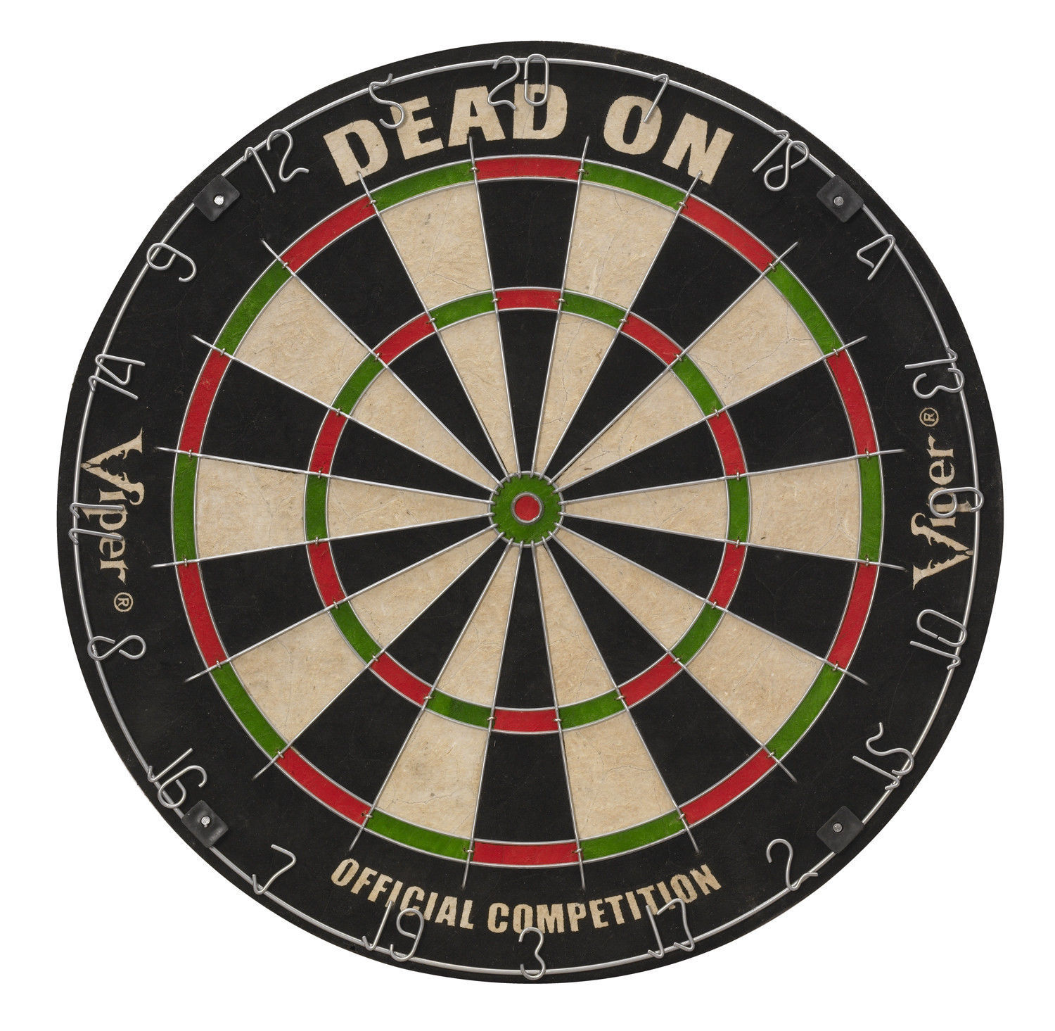 Viper Dead On Steel Tip Dartboard 42-6004  darts flights tips