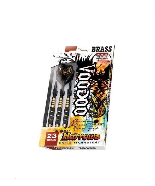 VOODOO by Harrows 23 Gram Fixed Point Steel Tip Set of 3 Darts -