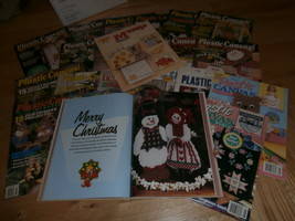 B-Med Flat Rate Box of Plastic Canvas & Crochet Magazines~C Pictures - $195.00
