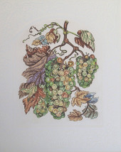 "Dorothy Lundquist Embossed "" Grapes for Wine"" on Vine Etching S/N Artist... - $27.71"