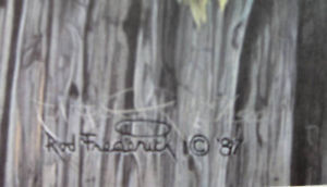 Rod Fredrick The Nesting Call S/N Litho Eagles in Tree