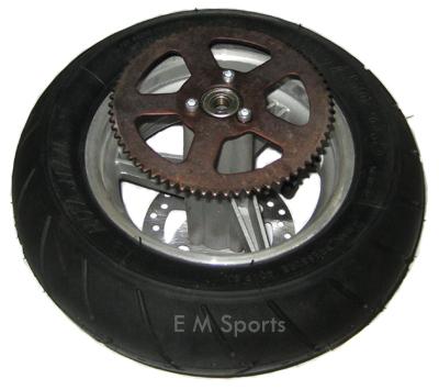 Chinese Mini Pocket Bike Parts Rear Tire Wheel Rim 47cc 49cc Size: 110 50 6.5