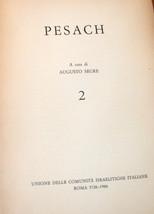 Judaica PESACH Passover Augusto Segre Roma 5726- 1966 Book Italian Vintage  image 3