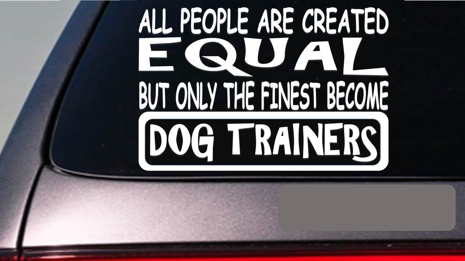 "Dog Trainer's all people equal 6"" sticker *E511* decal vinyl dog treats books"