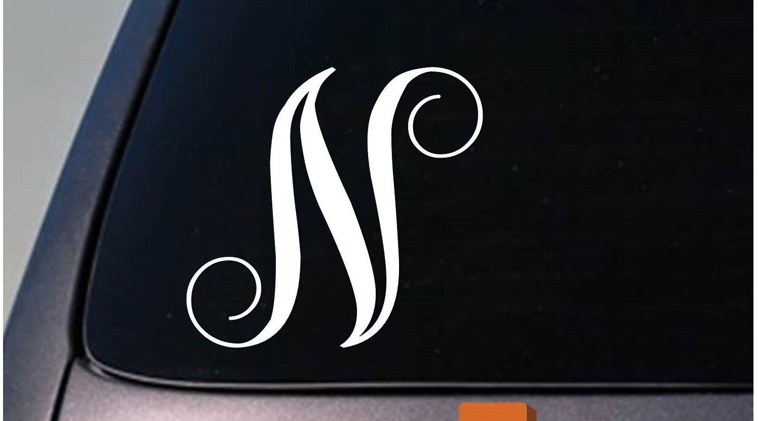 "LETTER N 6"" monogram sticker decal truck car window teach craft initials *D785*"