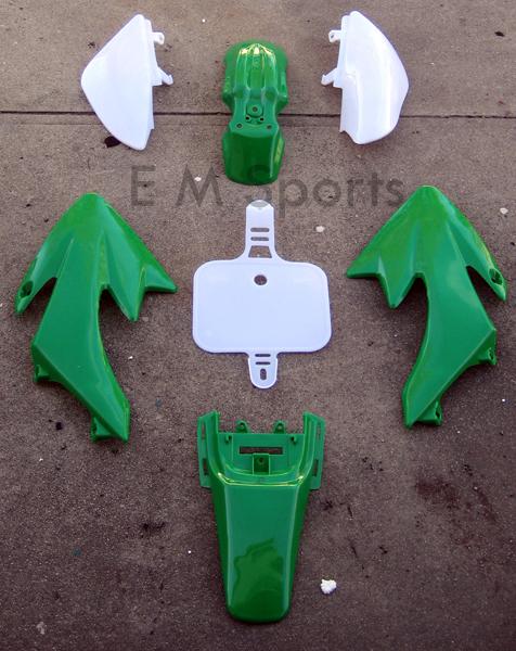 Chinese Dirt Pit Bike Plastic Fairing Shell 138cc 140cc TAOTAO SUNL ROKETA GREEN