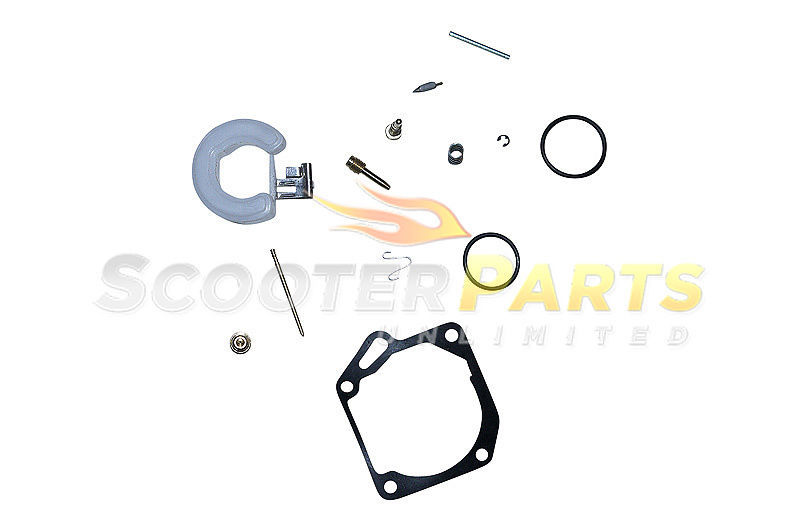 TNG Venice LS SS 2 Stroke Scooter Moped 49cc Carburetor Rebuild Repair Kit Parts