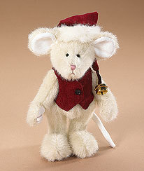 """Boyds Bears """"Jolly Mousekins"""" #562960-  6"""" Plush Mouse- NWT- 2007-Retired"""