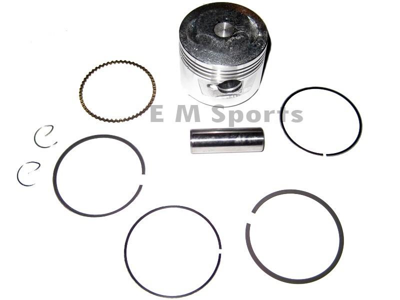 Piston Kit w Rings Parts For Gas 49cc 50cc Atv Quad 4 Wheelers Kazuma Meercat 50