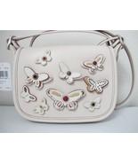New Coach Butterfly Applique Patricia Saddle Crossbody 18 Handbag Chalk ... - $177.21